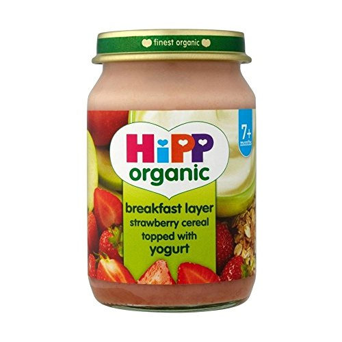 Hipp Organic Breakfast Layer Strawberry Cereal Topped with Yogurt 7mth+ - (160g)