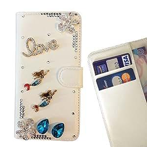 FOR Huawei P9 /Enjoy 5S / G8 MiniHuawei P9 /Enjoy 5S / G8 Mini Mermaid Girl Fish Love Bling Bling PU Leather Waller Holder Rhinestone - - OBBA