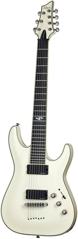 SCHECTER BLACKJACK ATX C 7 AGED WHITE Guitarra eléctrica 7 cuerdas