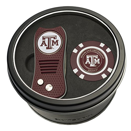 NCAA Texas A&M Aggies Tin Gift Set with Switchfix Divot Tool and Golf - Tool Texas Divot