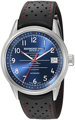Raymond-Weil-Mens-Freelancer-Swiss-Automatic-Stainless-Steel-and-Rubber-Casual-Watch-ColorBlack-Model-2754-SR-05500