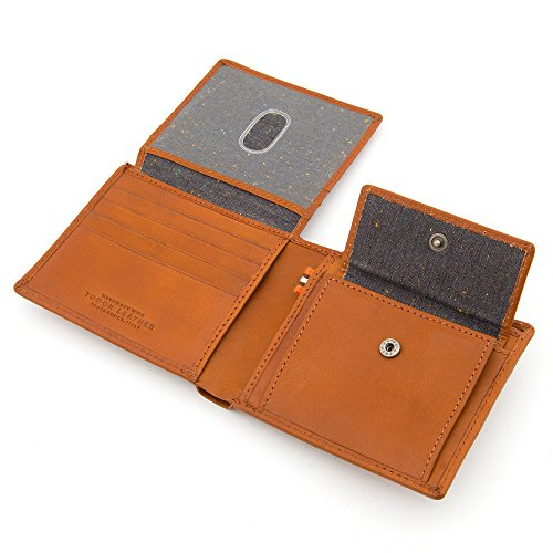 Hallmark and Hide Tan Italian Wallet Tumble Tan Leather by Tudor TPqHwU