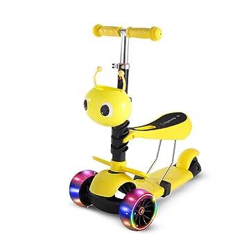 Amazon.com: AIOJY Patinete 3 en 1 con tres ruedas ...