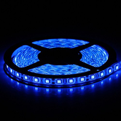 Flexible LED Strip Lights,Blue,300 Units SMD 5050 LEDs,Waterproof,12 Volt LED Light Strips, Pack of (Light Blue Type)