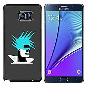 LECELL--Funda protectora / Cubierta / Piel For Samsung Galaxy Note 5 5th N9200 -- Resumen Retrato --