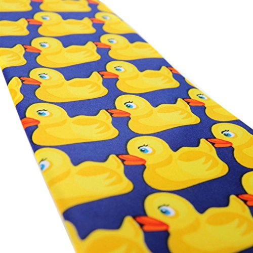 Accessories Cartoon Necktie Yellow funie Duck Business Big Men's Duck Neckwear Tie Suit RzpO7pqwdn