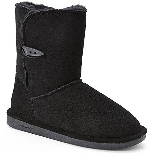 BEARPAW Womenƒ_Ts Victorian One-Toggle Mid Boots Black (Victorian Button Boots)