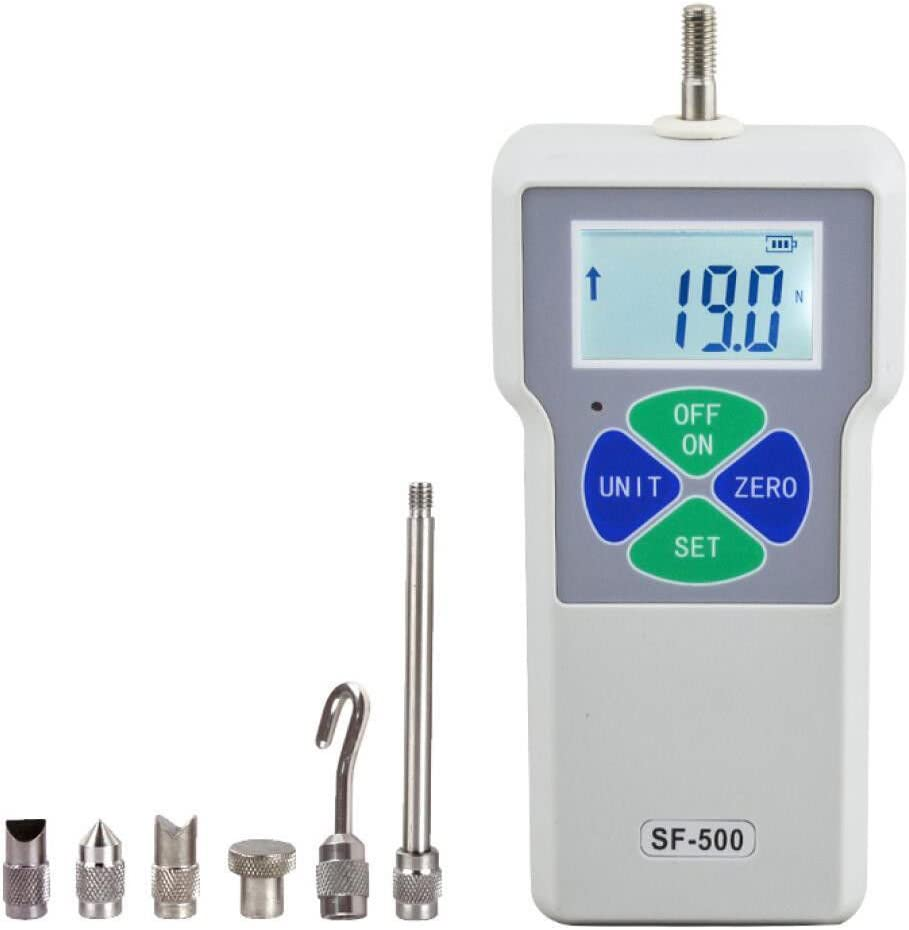 2N-500N Beslands SF-500 Digital Force Gauge Push and Pull Tester Dynamometer Pressure LCD High Precision Thrust Meter Measuring Instruments Simple Portable