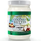 Organic Coconut Butter 10 oz Raw Stone Ground Pureed w/E-Book of Organic Gourmet Keto Paleo Friendly Recipes For Sale