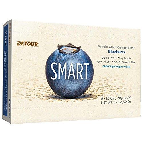 Detour Smart Gluten Free Oatmeal Bar, Blueberry, 11.7 Ounce, 9 count