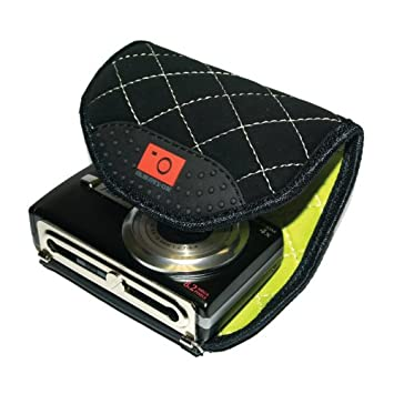 Always On Compact Camera Wrap - Funda para cámara compacta, Color Negro a Cuadros