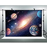 FHZON 7x5ft Vast Universe Background Solar System Planet Backdrop Astronomy Enthusiast Photography Theme Party Studio Props Youtube Backdrops LXFH192