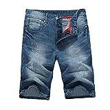 Hzcx Fashion Men's Summer Straight Light Weight Blue Denim shorts QT6002-MG133-35-BL-US 33 TAG 34
