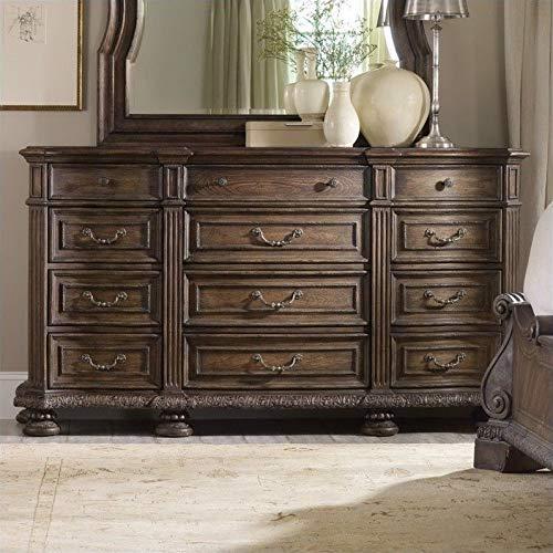 - Hooker Furniture Rhapsody Twelve Drawer Triple Dresser