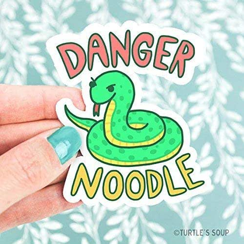 Amazon.com: Serpent Art, Snake Vinyl Sticker, Danger