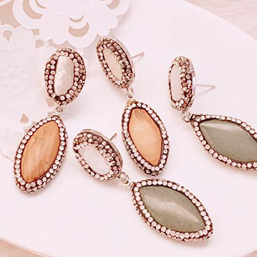 Pearl Diamond Pave earrings, Natural freshwater pearl studs earrings, Statement earrings, Mother Pearl jewelry, Pearl stud earrings ()