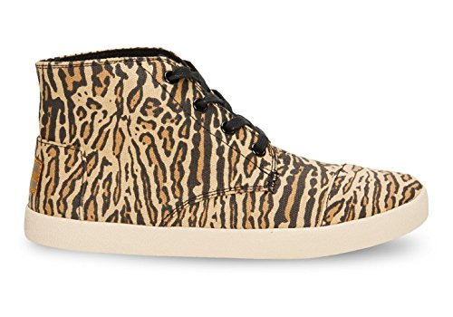 Toms Wheat Canvas Ocelot Women's Classic Paseo Highs Wheat Canvas 10003545 (SIZE: 9)