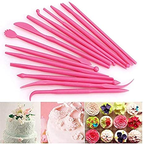14 Pcs Kit Clay Sculpting Tools Set 14 Pcs,Sageme 10 Pcs Modeling Clay Rubber Brushes Silicone Sculpting and 4 Pcs Polymer Clay Balls Tools Double Ended Dotting Tool Kit