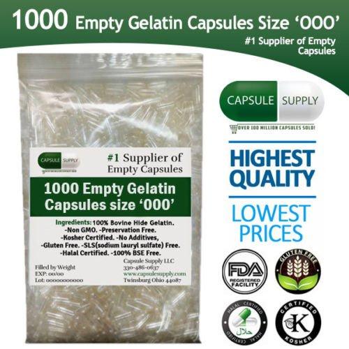 1000 Empty Gelatin Capsules - 7