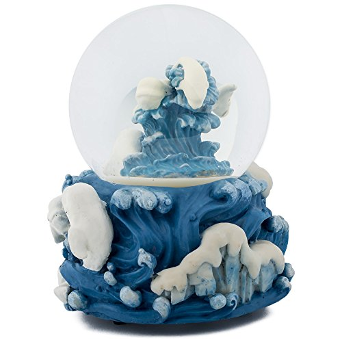 Beluga Whale (White Beluga Whale Ocean 100MM Music Water Globe Plays Tune Somewhere In Time)