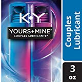K-Y Yours & Mine Couples Lubricant for Him & Her, 2 bottles/1.5 oz. each (3 0z. total) - Warming, water-based lube for...