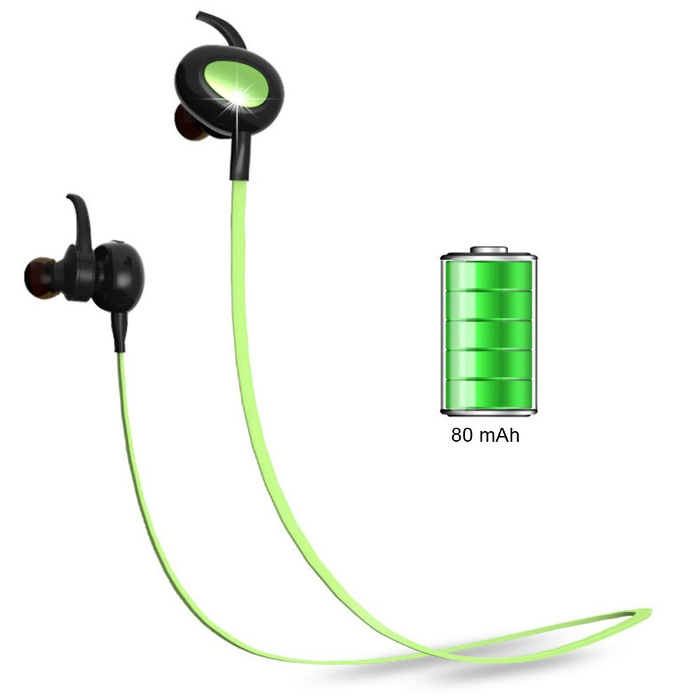 Bluetooth Headphones Wireless Sports Earbuds Sweatproof Earphones Noise Cancelling Headsets with Mic for Running Jogging Long Battery Life