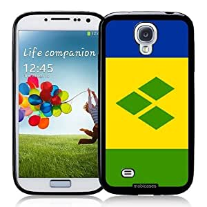 Cool Painting Flag of Saint Vincent And The Grenadines - Protective Designer BLACK Case - Fits Samsung Galaxy S4 i9500