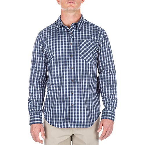 (5.11 Men's Covert Flex Long Sleeve EDC Shirt, Olympian, X-Large)
