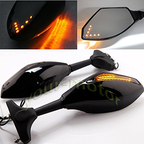 Motorcycle Mirrors With Turn Signals - 2