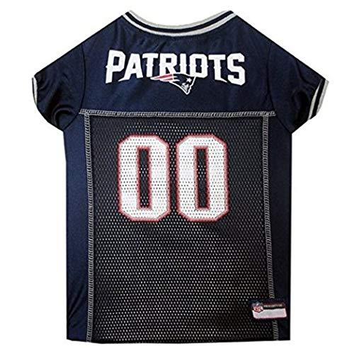 (NFL Superbowl LI Champion New England Patriots Themed Team Football Jersey X Large Dog Size, Navy Blue Red Grey White The Pats Super Bowl 51 Winner, NE Patriot Sports Fan Logo Animal Pet Apparel)