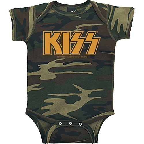Rocks Onesie Baby T-shirt (KISS logo infant onesie (12MO))