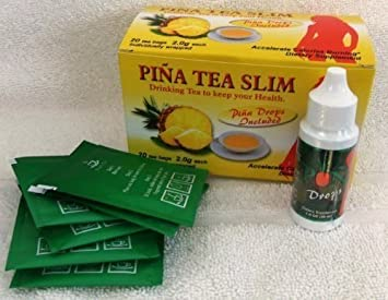 KIT Pina Slim Con Gotas Reductoras Del Apetito Pineapple Tea & Drops