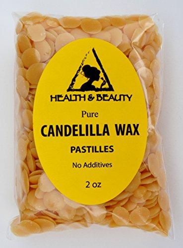Candelilla cire flocons Vegan bio Pastilles barbes Premium premier Grade 100 % Pure 2 oz
