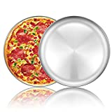Pizza Baking Pan Pizza Tray - Deedro 12 inch Stainless Steel Pizza Pan