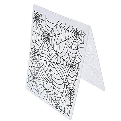 Amazon Com Plastic Embossing Folder Template Scrapbook Album Paper