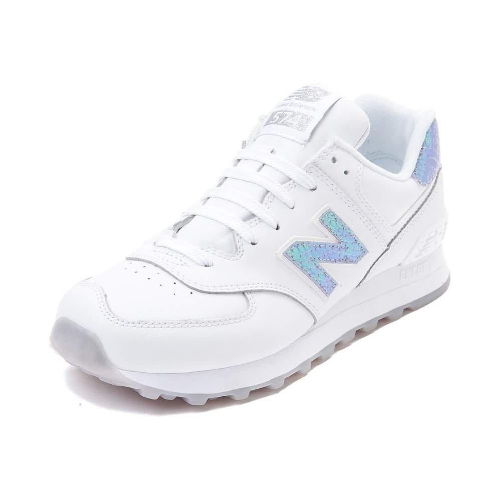 New Balance Women's WL574 CORE Plus-W Lifestyle Sneaker B01MS48WVX 7 M US White Iridescent 1518