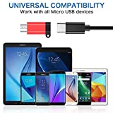 USB C to Micro USB Adapter, (4-Pack) Type C Female
