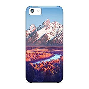 iphone 4 /4s Tpye mobile phone carrying shells Fashionable Design Protection pink hue on snake river the gr tetons