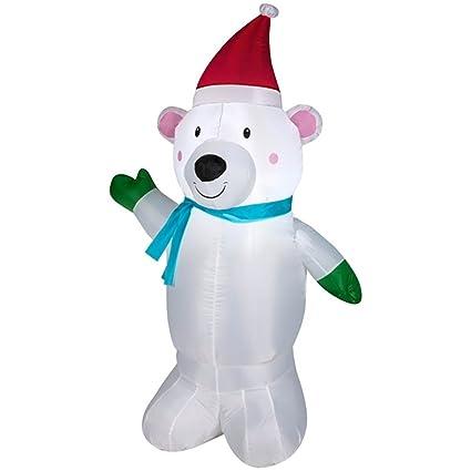 Amazon.com: airblown Pequeño Oso Polar inflable Césped ...