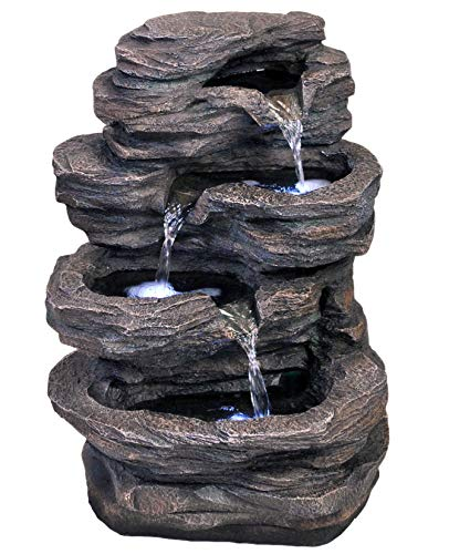 Outdoor Rock Fountains With Lights in US - 3