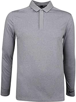 Nike Dry Longsleeve Golf Polo 2018 Gunsmoke/Black Medium-Tall ...