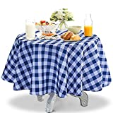 YEMYHOM 100% Polyester Spillproof Tablecloths for Rectangle Tables 60 x 84 Inch Indoor Outdoor Camping Picnic Rectangular Table Cloth