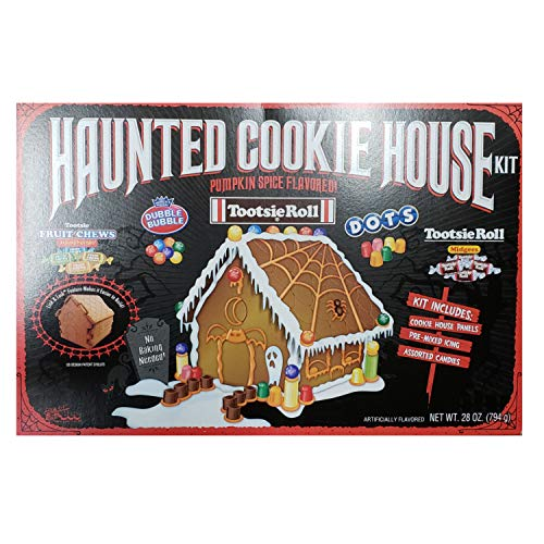 Halloween Haunted Cookie House Kit, Pumpkin Spice Cookie Flavored ()