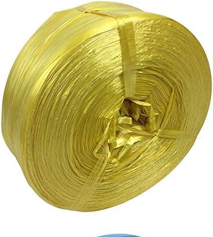 QSTF 4cm幅ひも結束ロープ/プラスチックロープ/梱包用ベルトロープ/同梱ロープ引き裂きベルト-5色 (Color : Yellow, Size : 2cm)
