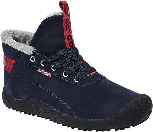 Gaatpot Chaussures Bottes Hiver De Neige Homme Chaude suède Boots Fourrées  Bottines Courts Mode Doublure Cheville f0ca0c37c228