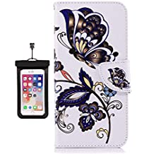 Samsung Galaxy A10 Flip Case, Cover for Samsung Galaxy A10 Leather Cell Phone Cover Extra-Durable Business Kickstand Card Holders with Free Waterproof-Bag