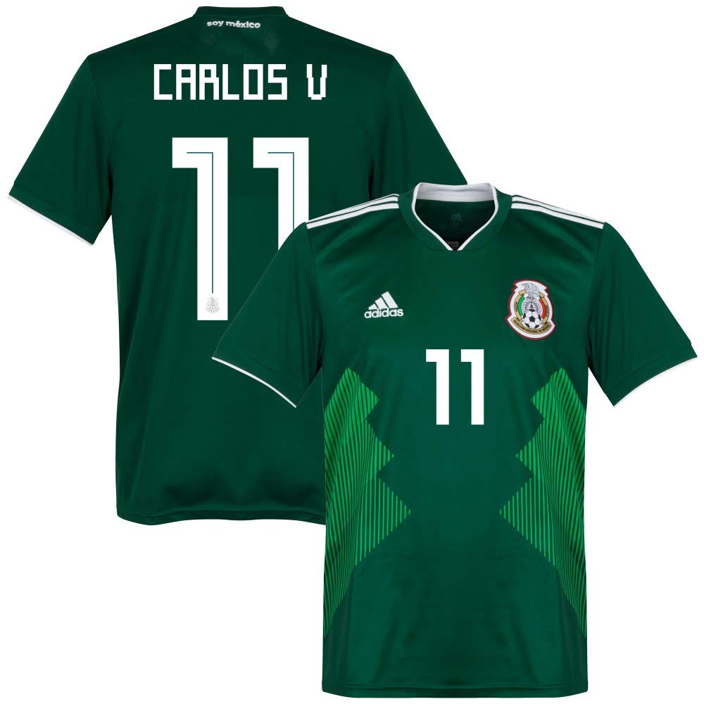 Adidas Mexiko Home Trikot 2018 2019 + Carlos V 11 - L