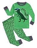 Family Feeling Dinosaur Little Boys Long Sleeve Pajamas Sets 100% Cotton Pyjamas Kids Pjs Size 6 Green