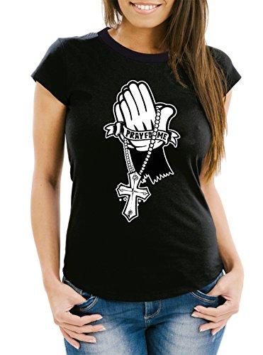 Pray For Me T-Shirt Girls Black Certified Freak