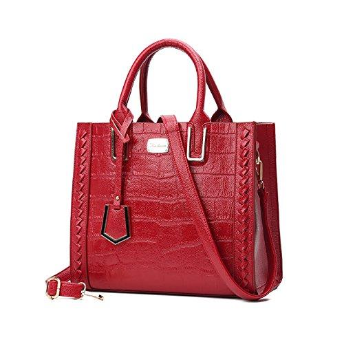 I Tisdaini Lady Handbag Casual Fashion Bags Shoulder Bag Wild Red Mark
